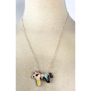 collar porcelana unicornio