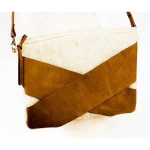 bolso de lana pura de oveja y ante