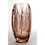 florero Murano color vino rosado facetado