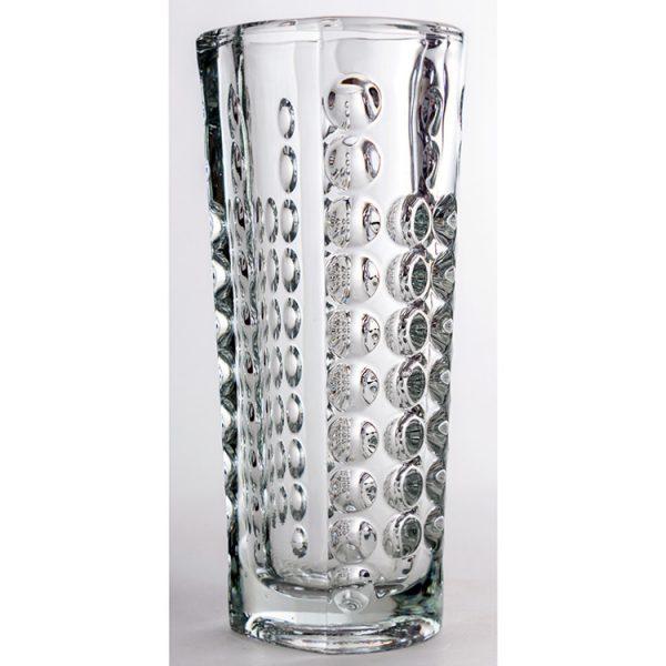 Jarrón con decoración de burbujas en el interior del propio cristal