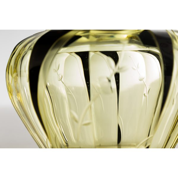 frasco art deco de cristal amarillo